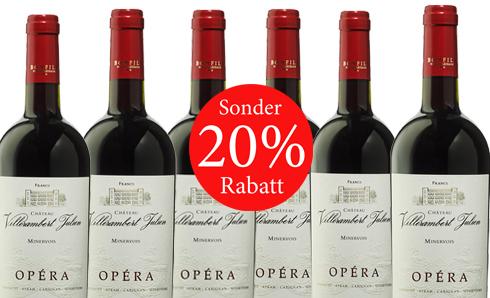 20% sparen Chateau Villerambert 2015 Julien Opera AOC Minervois