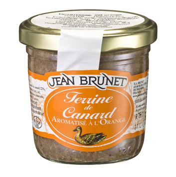 Entenpastete mit Orange 90 g Jean Brunet