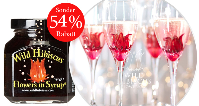 Wilde Hibiskusblüten in Sirup Sale%