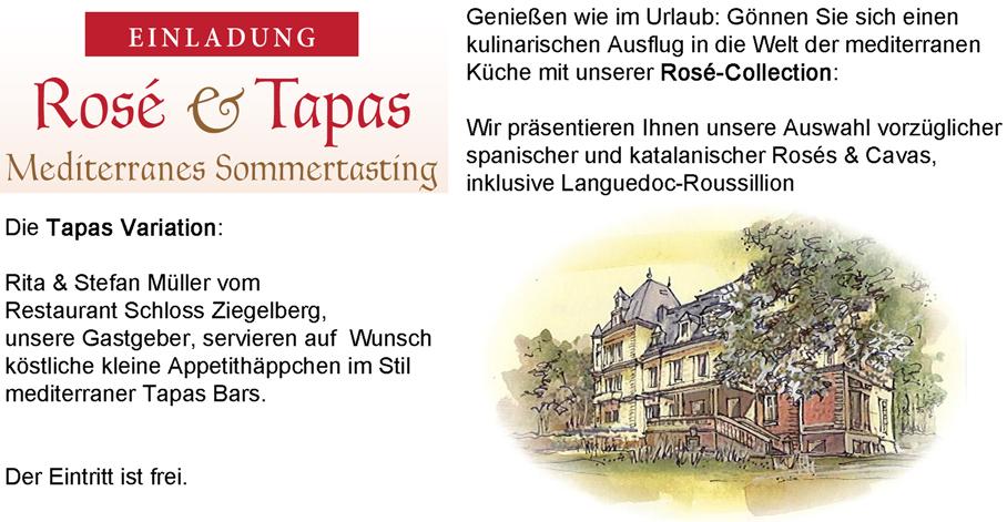 Einladung Rosé  Tapas 2015
